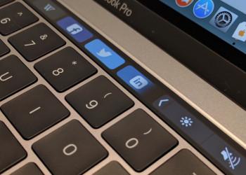Macbook Air Touchbar Closeup